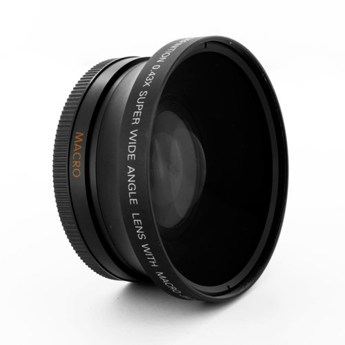Digital King 0.43x 72mm Wide Angle Fisheye Lens with Macro - Black by DigitalKing