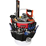 IRONLAND 1130 Bucket Tool Garden Organizer with 51-Pocket, Heavy Duty Tool Carrier Holder Fit for 5 Gallon Bucket