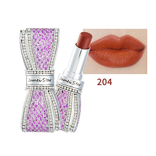 Lipstick ,Longay Bowknot Lipstick Ladies Beauty Makeup Waterproof Sexy Hydrating Long Lasting Lip (204)