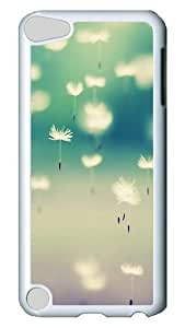 iPod Touch 5 Case, Autumn Dandelion 03 PC Hard Plastic Case Cover for Apple iPod Touch 5/ iPod 5th Generation White
