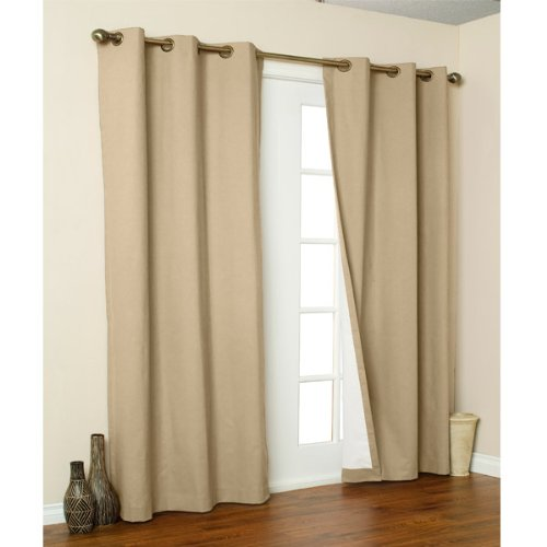 Grommet Weathermate Top Thermal - Weathermate Solid Cotton Grommet Top Curtain (Set of 2) Size: 72