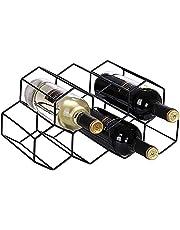 Vinställ bänkskiva vinställ fristående golv vinhållare stativ för disk, metall vinställ, vinflaska ställ, flaskhållare för bar spritskåp, bordsskiva vinhylla mini barer för hem