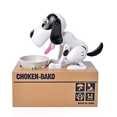 Shop LC Delivering Joy Money Coin Piggy Bank White Black Dog Party Favor Gifts: Home & Kitchen