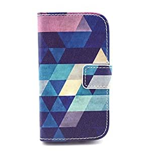 PEACH ships in 48 hours Colorful Diamond Pattern PU Leather Case with Card Holder for Samsung Galaxy Trend Duos S7562