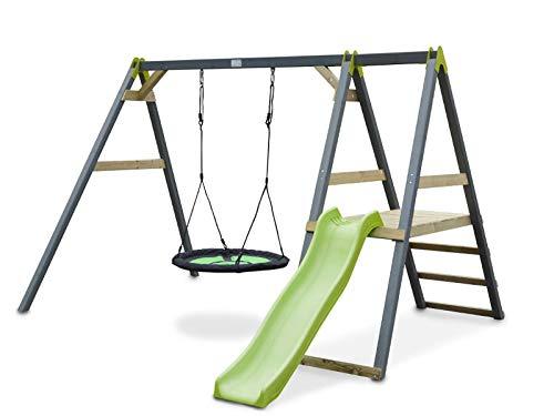 Xxl Klettergerüst 2 4m Kletterturm Mit Kletternetz Reckstange Kletterwand Leiter : Hangelgerüst als kinder klettergerüst spielgerät din en