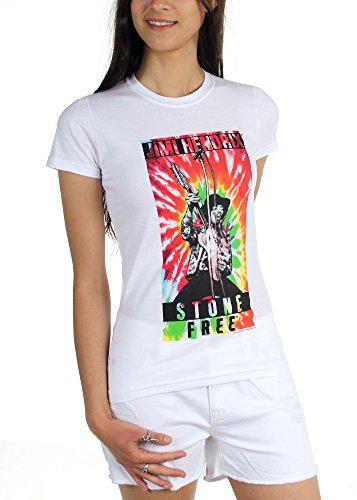 Jimi Hendrix Stone Free T-shirt - Jimi Hendrix - Womens Jimi Stone Free T-Shirt, Size: Medium, Color: White