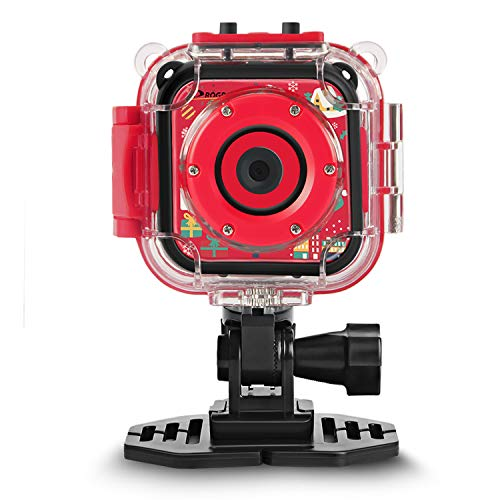 (Christmas Edtion) Prograce Kids Camera Underwater Waterproof Camera Camcorder Kids Boys Girls 4X Digital Zoom 3-Level Volume Adjustment