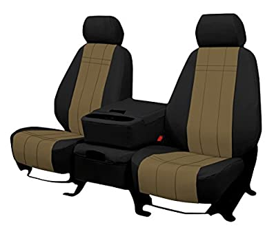 Front Seats: ShearComfort Custom Waterproof Cordura Seat Covers for Ford F150 (2015-2019) for 40/20/40 w/Folddown Opening Console and 3 Adjustable Headrests (Super Cab or Super Crew)