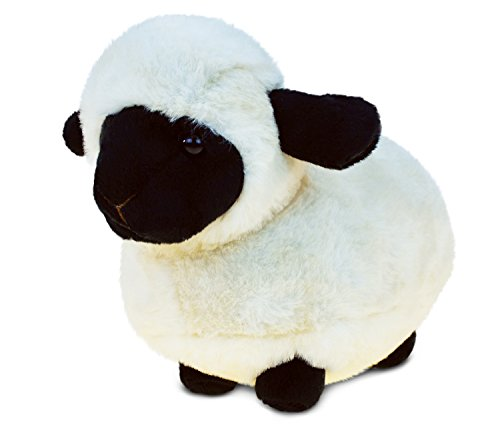 Puzzled Valais Black Nose Sheep Super Soft Stuffed Animal Toy Plush Cuddly Fuzzy Small Critter Size: 8.5x4.5x6 inches No Age Restrictions Safe Non-Toxic Kid's Huggable Bedtime Buddy - Item #5367