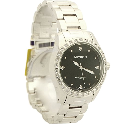 Miykon Analog Rhinestones Waterproof Watch for Women silver - Miykon Waterproof Watch