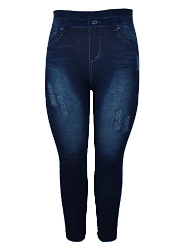 Crush Womens Printed Distressed Denim Jeggings Leggings Navy Size Small (Cowgirl Outfits Ideas)