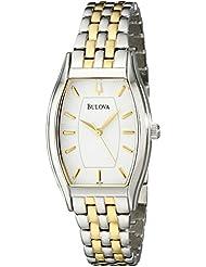 Bulova Womens 98L145 Classic Two-Tone Tonneau Watch