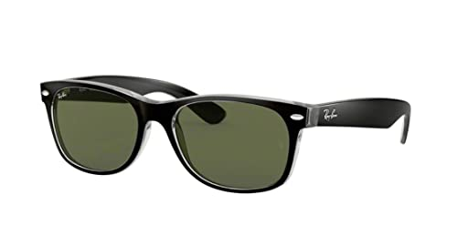 1c9e8b9e811 Image Unavailable. Image not available for. Colour  New Ray Ban RB2132 6052  Black+ Clear Crystal Green 55mm Sunglasses