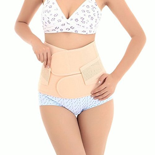 Healthcom Waist Slimming Belt Shaper Wrapper Band Abdomen Abdominal Binder Women Postnatal Pregnancy Belt-Support Postpartum Recoery Support Girdle Belt Belly(Size:M) ()