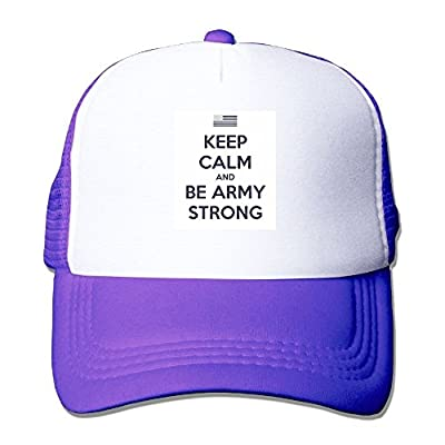 Be Strong Baseball Cap Adjustable Snapback Custom Mesh Trucker Hat- One Size Fits All from Swesa