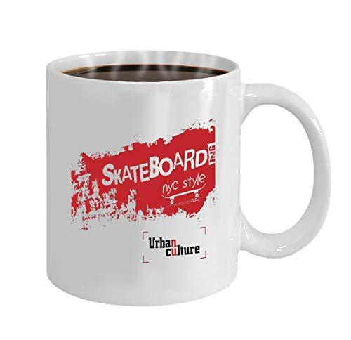 Funny Gifts for Halloween Party Gift Coffee Mug Tea new york city typography fashion stylish printing -
