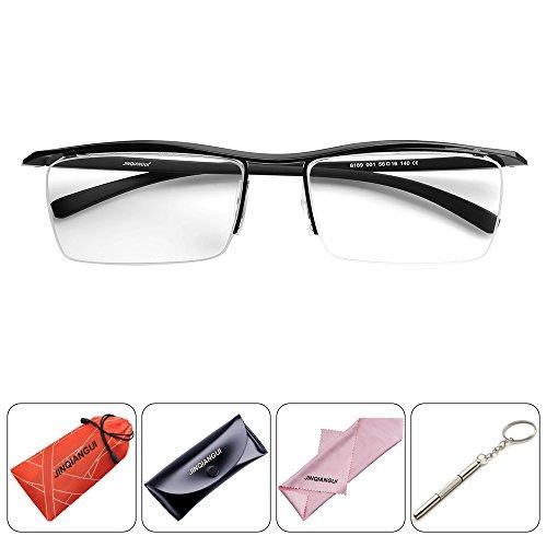 Semi Rimless Myopia Prescription Reading Glasses Frame Unisex Pure Titanium - Frames Face Shape Glasses To Suit