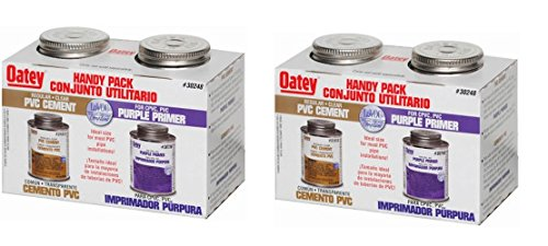 Primer Pvc (Oatey 30246 PVC Regular Cement and 4-Ounce NSF Purple Primer Handy Pack (2-(Pack)))