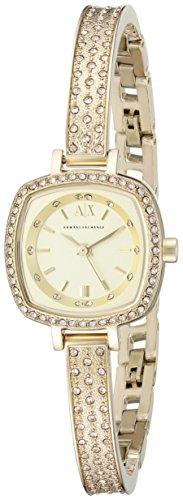 Armani Exchange Women's AX4287 Analog Display Analog Quartz Gold Watch