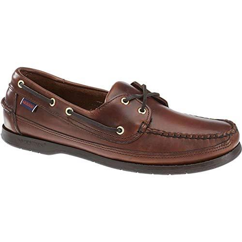 Sebago Mens Schooner Waxed Leather Docksides Boat Shoes Brown Gum 9.5 - Schooner Yacht