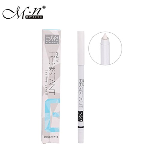 Brightening Eye Liner,1PC White Eyeliner Pencil Eye Liner Waterproof Long Lasting Eye Brighten (White)