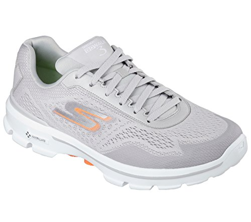 Skechers Rendimiento Go Walk 3 Reacción de zapatos Caminar Light Grey/Orange