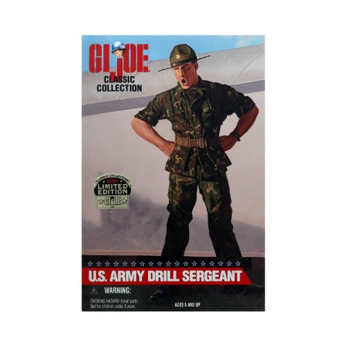 G.I. Joe - U.S. Army Drill Sergeant - Hasbro Classic Collection - 1997 Limited Edition - African American Figure - Mint - Collectible - (PR)