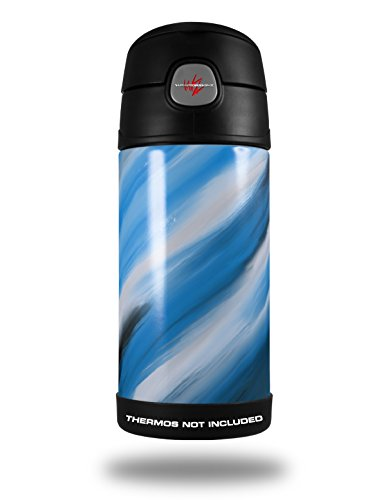 Skin Decal Wrap For Thermos Funtainer 12Oz Bottle Paint Blend Blue  Bottle Not Included