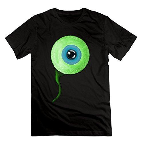 Leslie Men's Jacksepticeye Eye Logo Happy Wheels Tshirts Black - Magnet Space Wheel