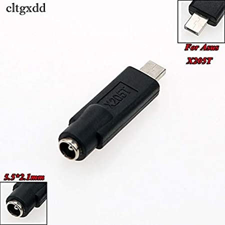 Connectors 5.52.1mm Female Jack to USB 2.0 AF AM Plug 5V DC Power Plug Connector Adapter for Asus X205T Lenovo Yoga 3 Laptop PC Cable Length: 5.5x2.1mm Female, Color: for Asus X205T
