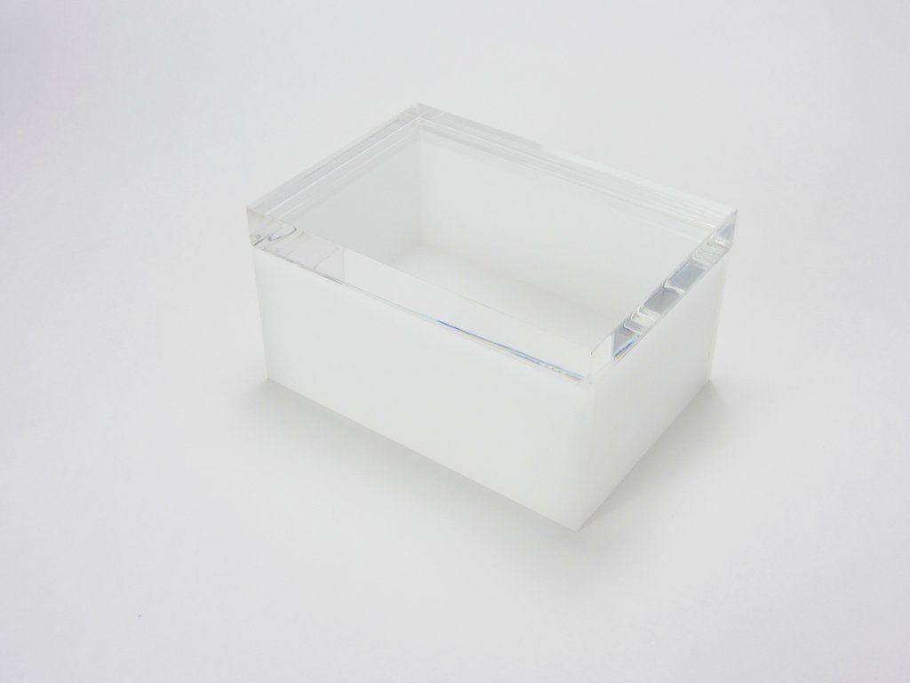 「Notturno」FalkenデザインLucite Lidボックス: 7 x 5 x 3 x 3 / 8