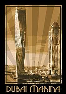 Photo Of Dubai Marina- Sepia, Print Only (a2)