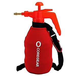 CoreGear (ULTRA COOL XL) USA Misters 1.5 Liter Personal Pump Water Mister & Sprayer With Full Neoprene Jacket (Red)