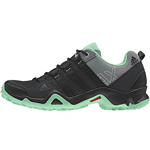 adidas Outdoor AX2 Hiking Shoe - Womens Vista GreyBlackGreen Glow 7