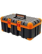 Oramics Gereedschapskoffer, 50 x 30 x 24 cm, gereedschapskist met rubberen hoeken voor de perfecte stand en schokbestendigheid, kunststof koffer voor gereedschap, voor doe-het-zelvers en doe-het-zelvers