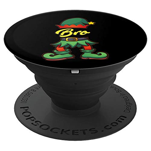 Bro Elf Christmas Design   Xmas Santa Helper Art - PopSockets Grip and Stand for Phones and Tablets ()
