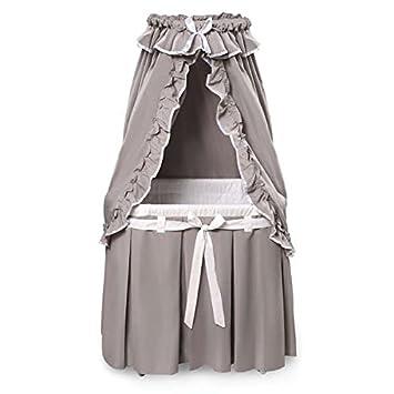 Amazon.com: Majestad Gris/white Classic bassinet de bebé con ...