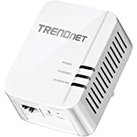 TRENDnet Powerline 1200 AV2 Single Adapter with Gigabit Port, Plug and Play, MIMO, Beamforming, TPL-420E