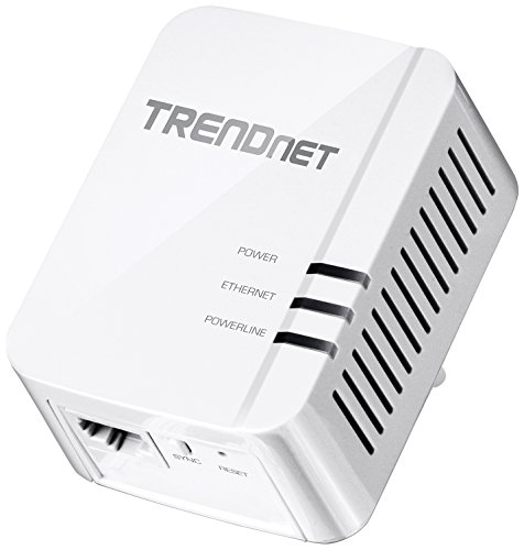 Single Line Adapter - TRENDnet Powerline 1200 AV2 Single Adapter with Gigabit Port, Plug and Play, MIMO, Beamforming, TPL-420E