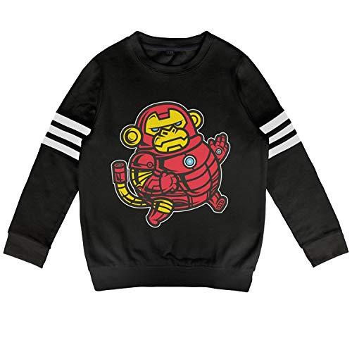 Children Animal Iron Monkey Super Hero Kid Cotton Hoodies Pullover ()