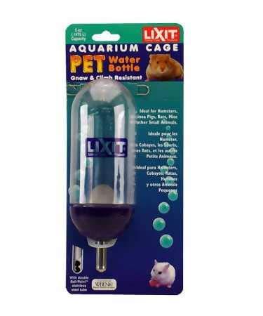 Lixit Corporation SLX0850 Aquarium/Cage Small Animal Water Bottle, 5-Ounce