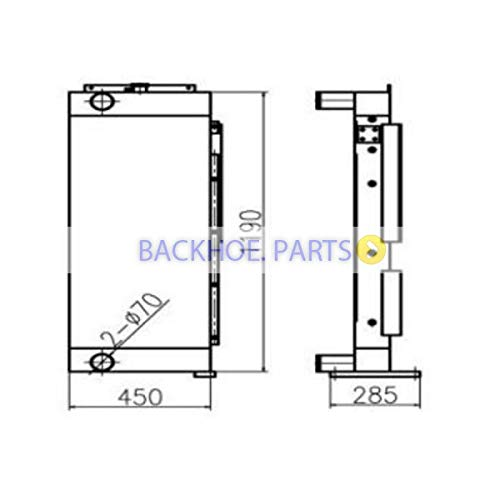 Price comparison product image For Doosan Excavator DH350 DH370-9 Water Tank Radiator ASS'Y