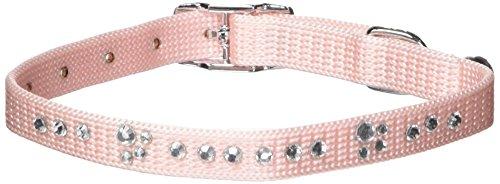 (Catit Nylon Adjustable Cat Collar with Rhinestones, Pink)