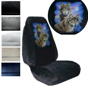 Seat Cover Connection Wolves Print 2 High Back Bucket Car Truck SUV Covers