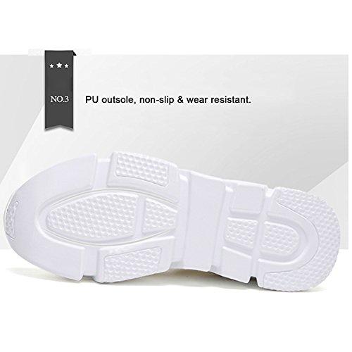 Cuña Zapatillas Transpirables Tacón H Zapatillas Negro Knit Mujer Deporte de Sneakers 5cm Mastery Running Casuales Altas de para pRBcF1AS