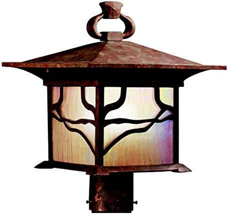 B0035YCXS0 Kichler 9920DCO, Morris Cast Aluminum Outdoor Post Lighting, 200 Total Watts, Distressed Copper 41w-CyjfKZL.