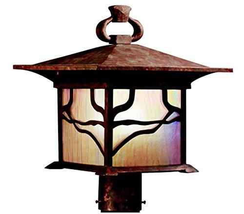 (Kichler 9920DCO Morris Outdoor Post Mount 1-Light, Distressed Copper)