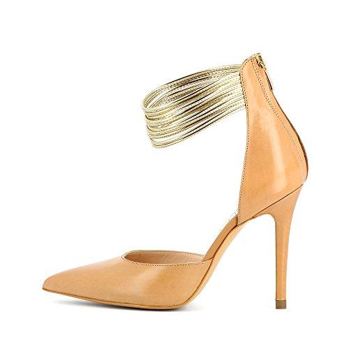 Evita Shoes Alina - Zapatos de vestir de Piel para mujer color carne