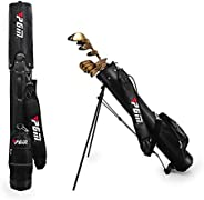 AKOZLIN Golf Stand Bag 9-Pack Pitch & Putt Sunday Bag with Stand Golf Clubs Stand Bags Lightweight Easy Ca