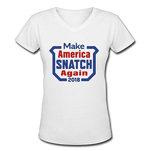 Men's Make America Snatch Again Funny V-Neck T-Shirt -